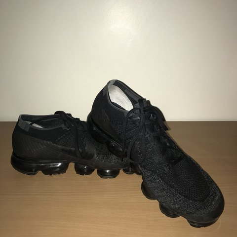 56e2f758d Nike Air Vapormax Triple Black 1.0 OG Size UK 11 9 10 in all - Depop