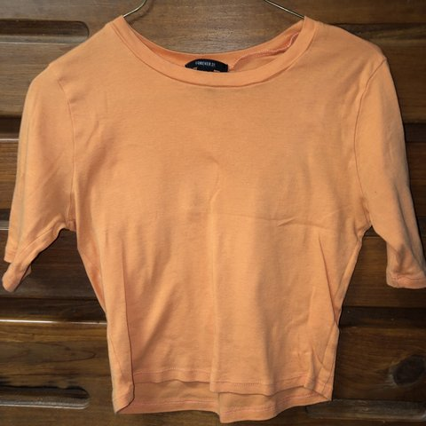 0c1a22464ae5c6 Bright orange crop top from forever 21. Fairly new and in - Depop