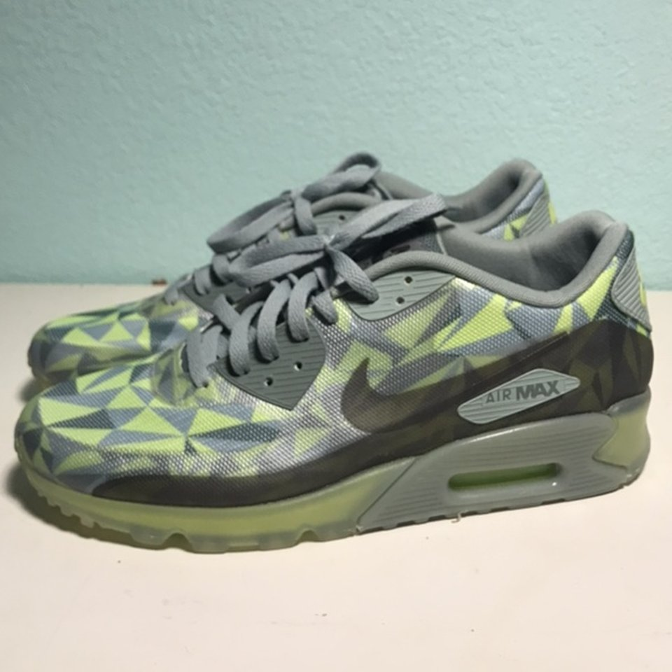 Air max 90 green ice worn once #nike #airmax #ice Depop