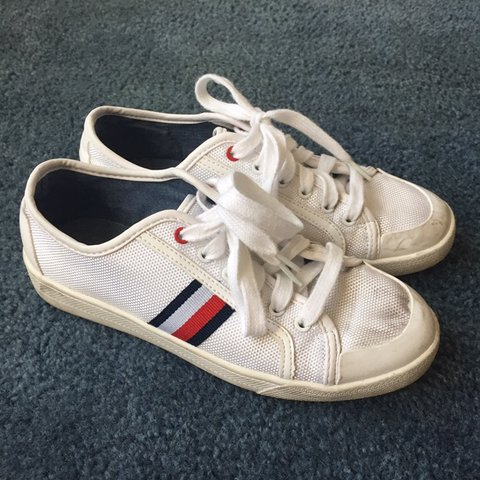 4fa3f2366 Tommy Hilfiger Canvas Shoes PRICE IS FIRM. Free shipping. a - Depop