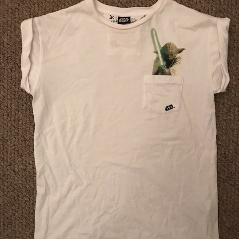 1f75d78df33 Tee and Cake Yoda roll sleeve white T-shirt. I would say a 8 - Depop