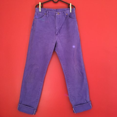 a232c442 @sierrasierrakind. 24 days ago. Portland, United States. 💜Purple Wrangler  Pants☂ Perfect condition vintage high waisted, skinny boot cut ...