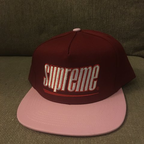 613f2a03 @shufrek123. last year. Virginia Beach, United States. Supreme Underline 5  Panel Snap Back Hat SS18 OS
