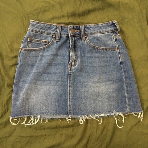 a8029b3b944 Pacsun Denim skirt 14 inches long Size 24 Fits inches - Depop