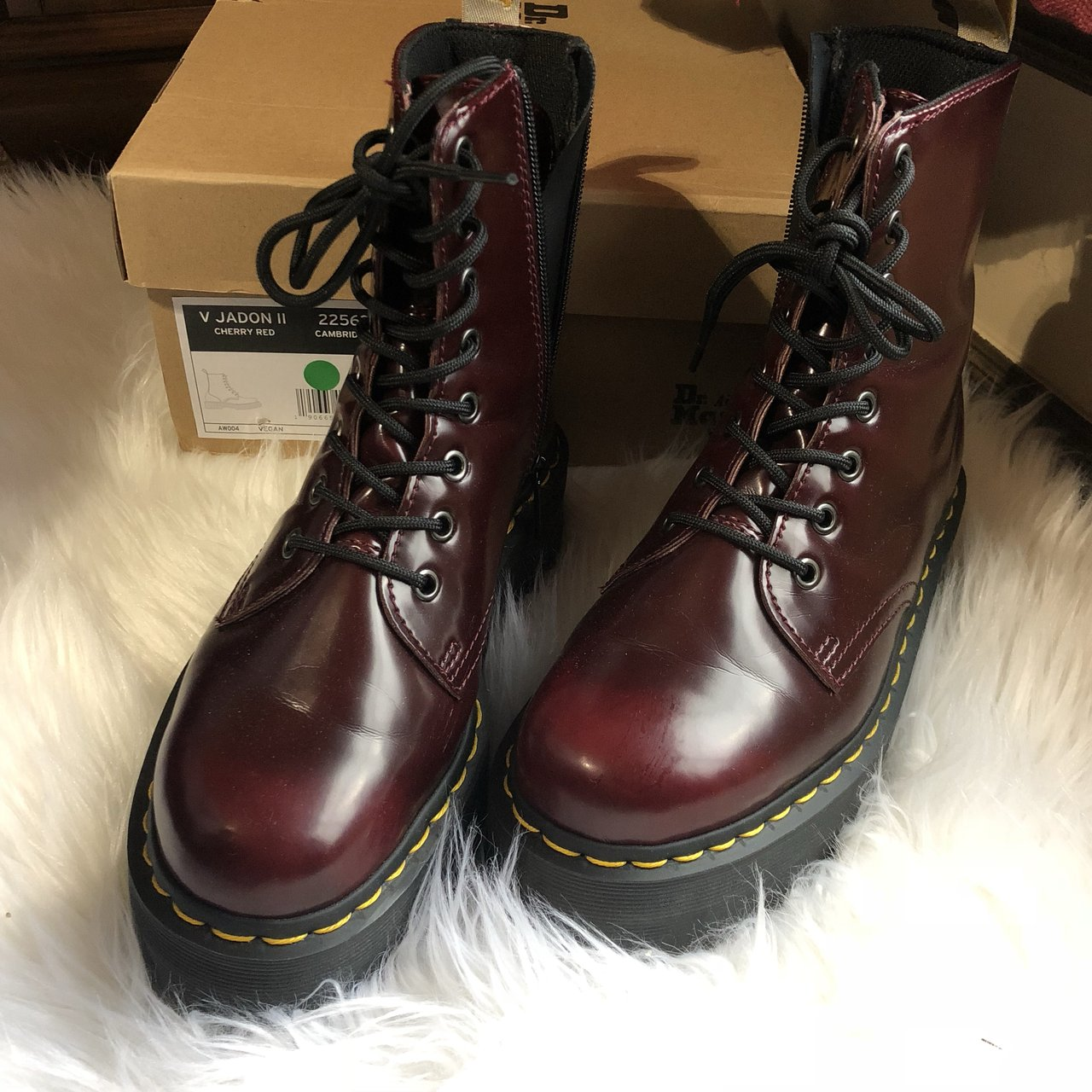 863b649c46a @iruyil. 8 months ago. Oklahoma City, United States. Dr Martens V Jadon II  Cherry Red Boots