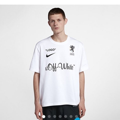 DS Off White x Nike World Cup Capsule White T-Shirt size as - Depop b6e14d722