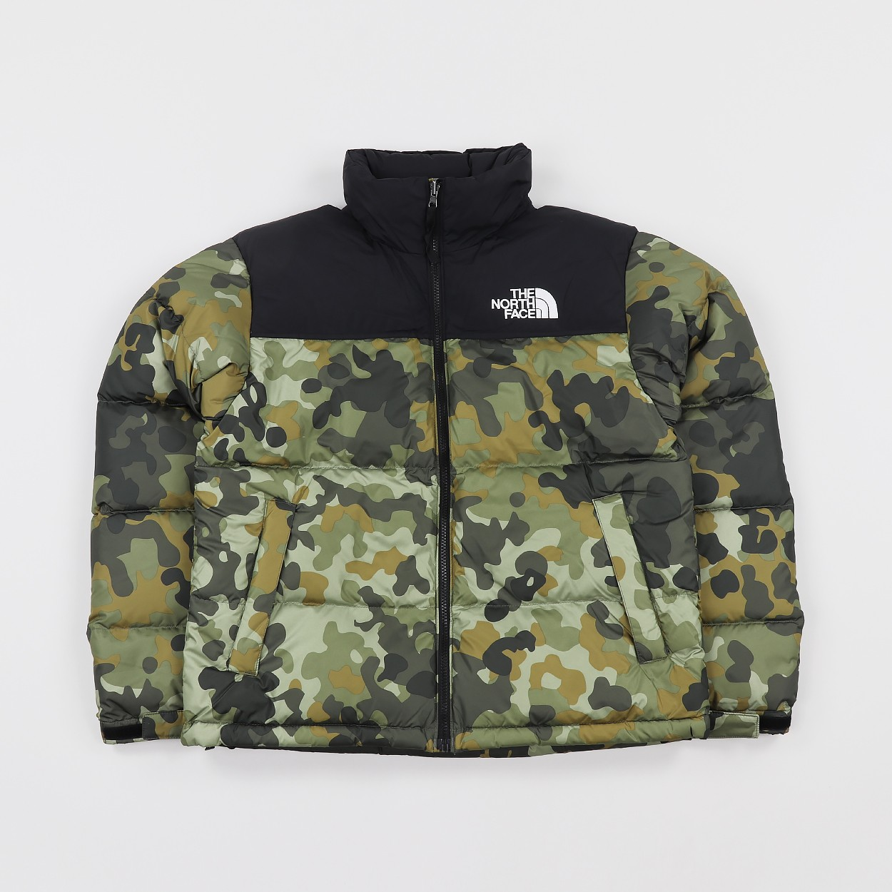 North face nuptse jacket, camo, brand new, size    - Depop