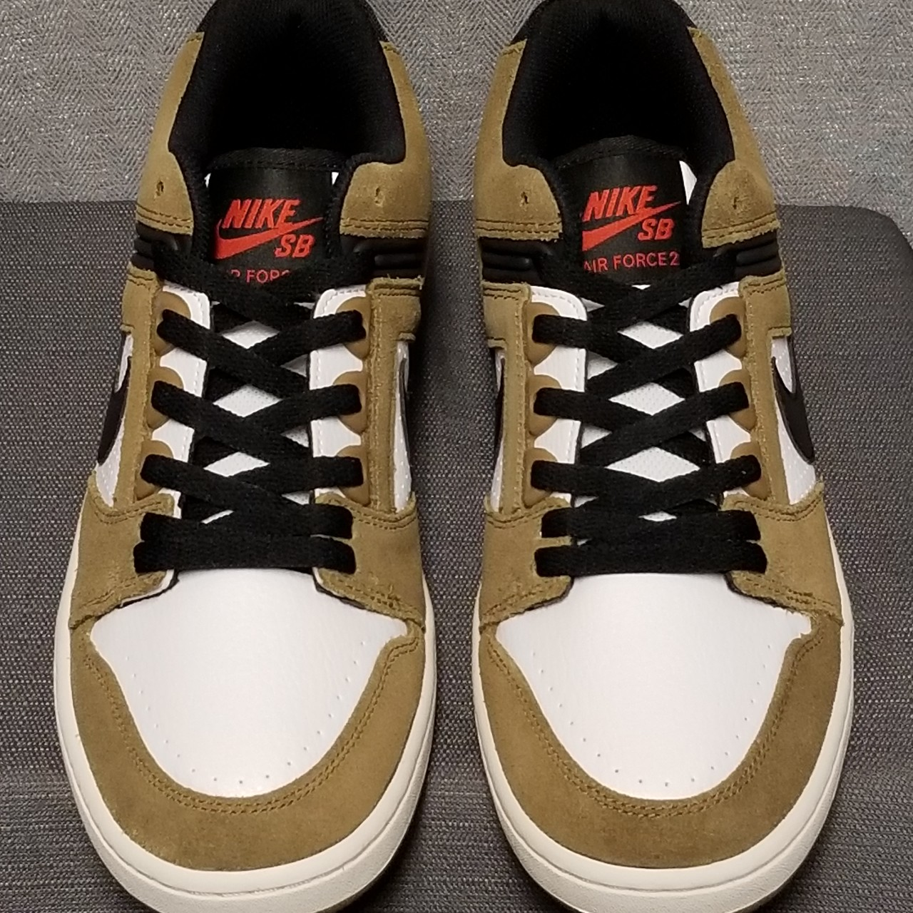 NIKE SB Air Force II Low Escape Lichen Brown White Depop
