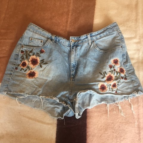 d86e440ea6 @aprilwinters. last year. London, United Kingdom. Floral embroidered mom  shorts ...