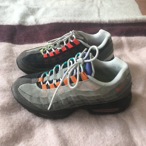 098942dd40 @aprilwinters. 9 months ago. London, United Kingdom. Nike air max 95  greedy. Size UK 6. Super rareeeeee and highly sought after. Worn a few ...