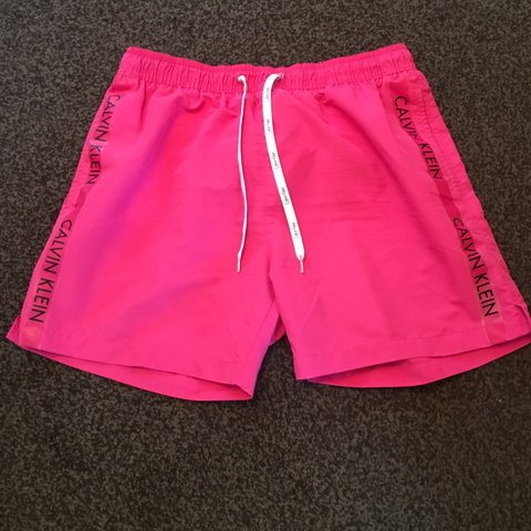 38c20f18a2 @hall89. 10 months ago. Blackpool, United Kingdom. Calvin Klein Swim Shorts  - Hot Pink - Men's size Medium ...