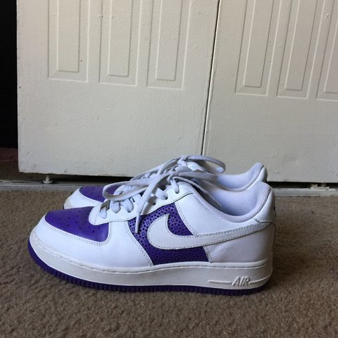 01b848cc93b39 @isata99. 6 months ago. Decatur, United States. Purple and white nike Air  Force one.