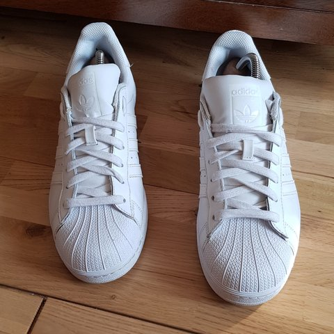 5bec580a0 Adidas Superstar Triple White Size 9 Used but in very good - Depop