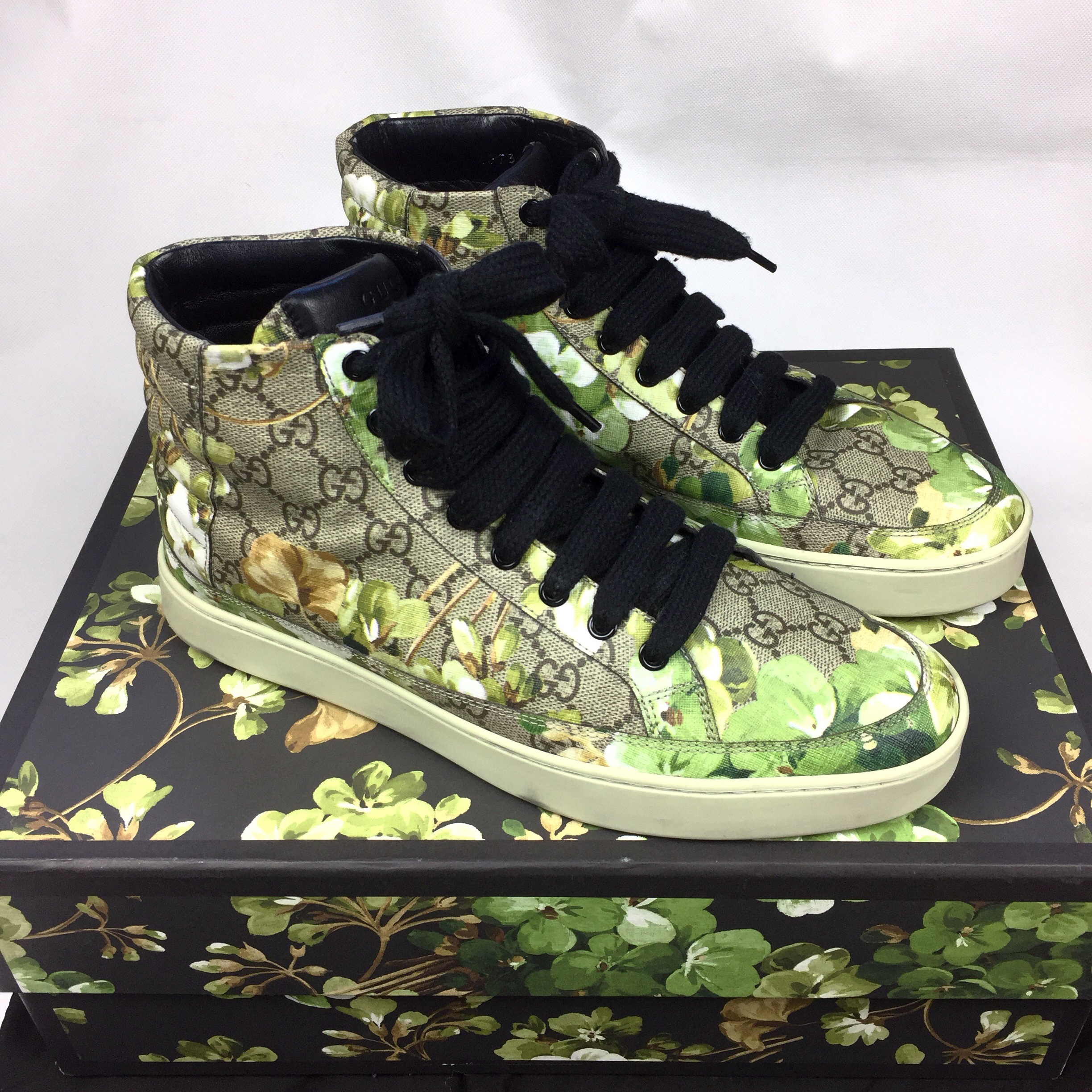 Authentic Gucci Bloom Monogram High Top