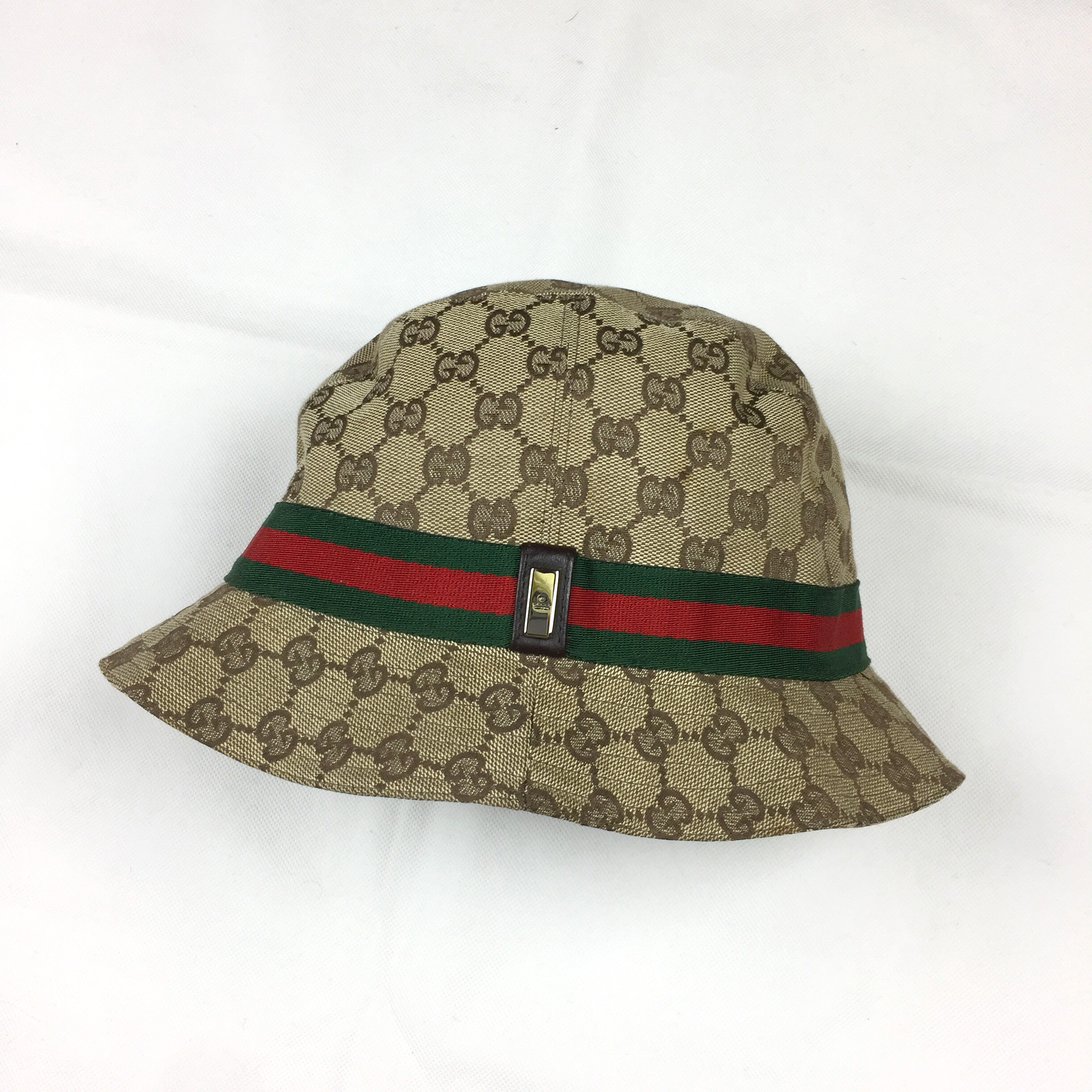 1ed6d4ce0 Gucci Monogram Bucket Hat • Size Women's M, around... - Depop
