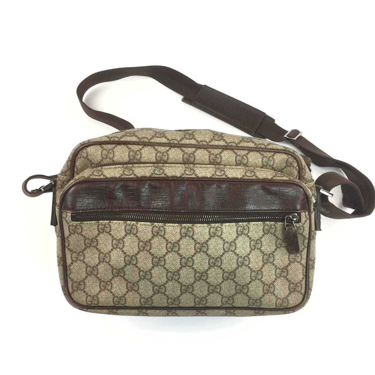 32a22a42a15  oliversarchive. last year. United Kingdom. Authentic Gucci PVC Canvas Cross  Body Messenger Bag ...
