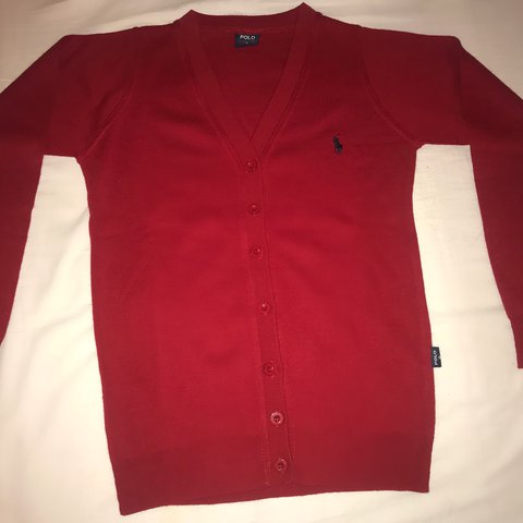 56e655b28 Red Ralph Lauren Polo Cardigan in a size Small