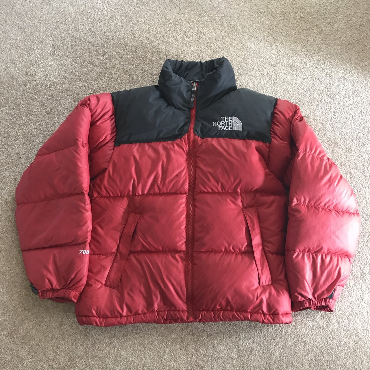 Mens Red North Face Nuptse 700 Down Size XS Puffer Jacket of - Depop 7551212ef
