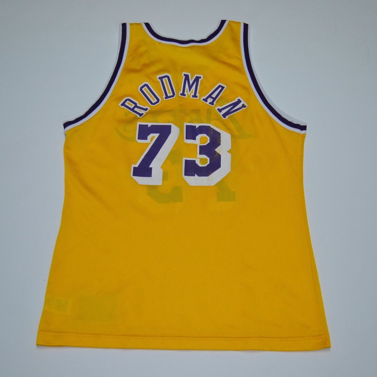 3a46a36caad0 RARE Dennis Rodman Lakers jersey Vintage made by purple and - Depop