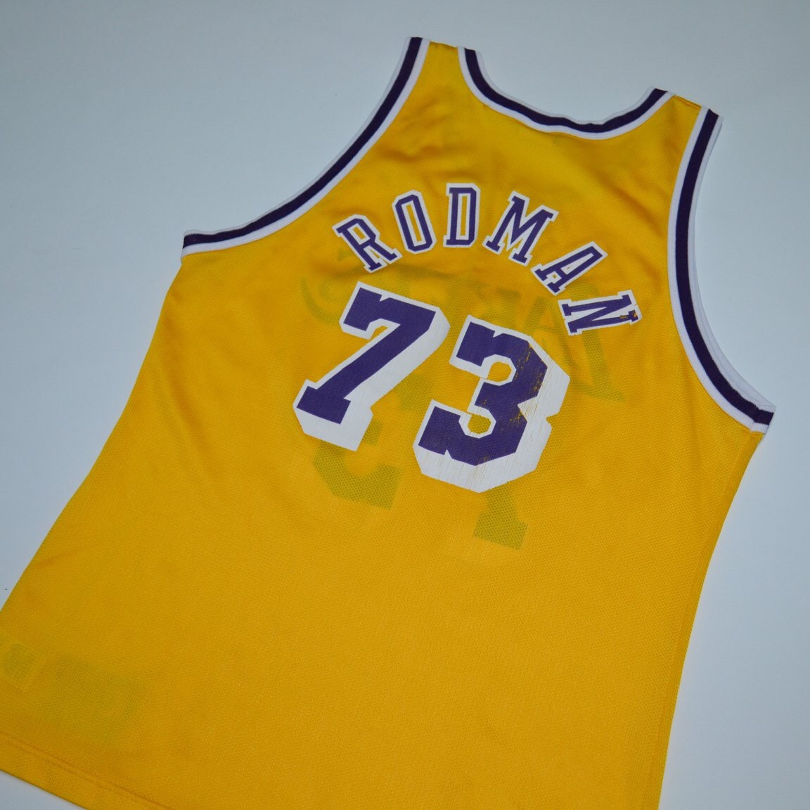 sports shoes 4c5e8 12a41 RARE Dennis Rodman Lakers jersey Vintage made by... - Depop