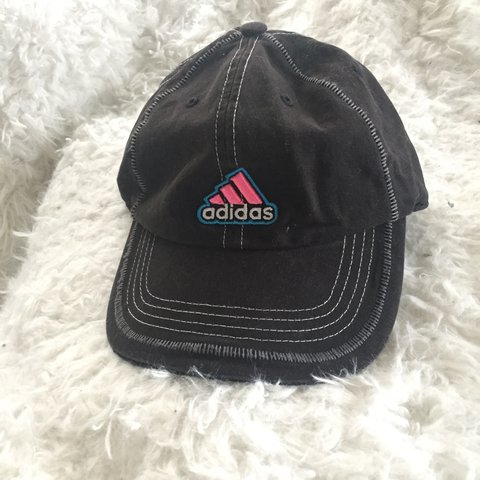 b290ee69c2b13 Vintage Adidas hat Neon pink and blue. One size fits all. - Depop