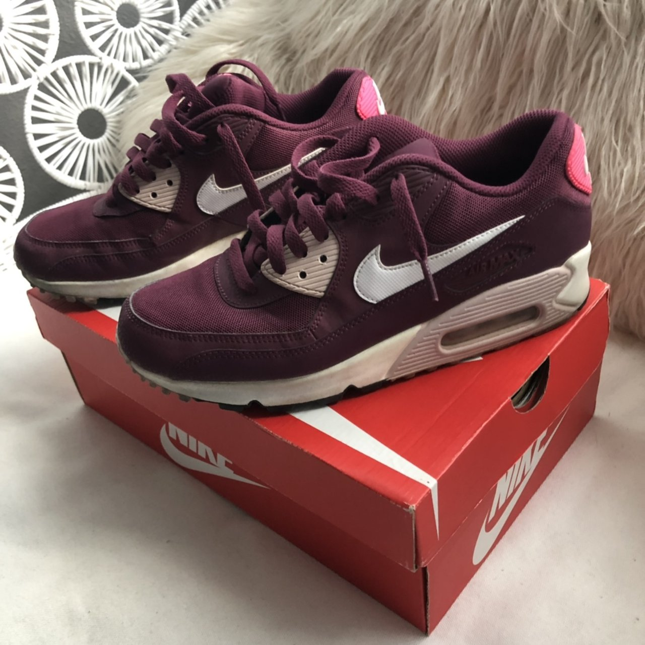 09e36c4afba Nike air max in original box Hot pink   burgundy  airmax - Depop