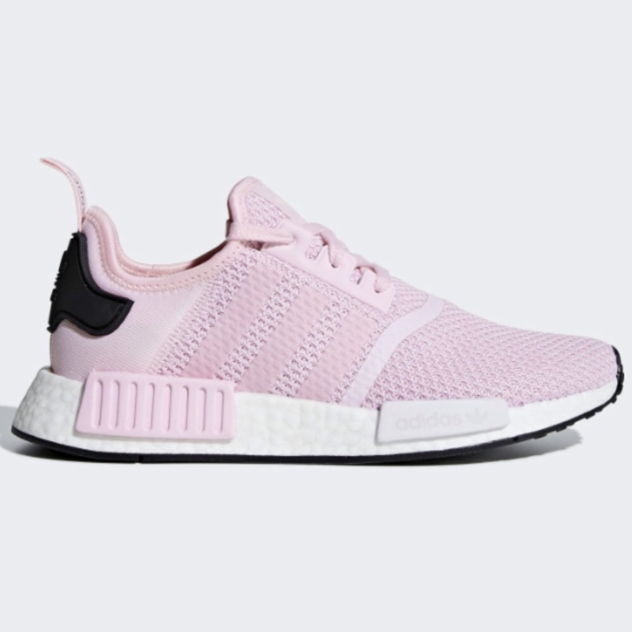 Adidas NMD R1 shoes Women s 7.5 Color  Clear Pink Cloud new - Depop 4ccca57528