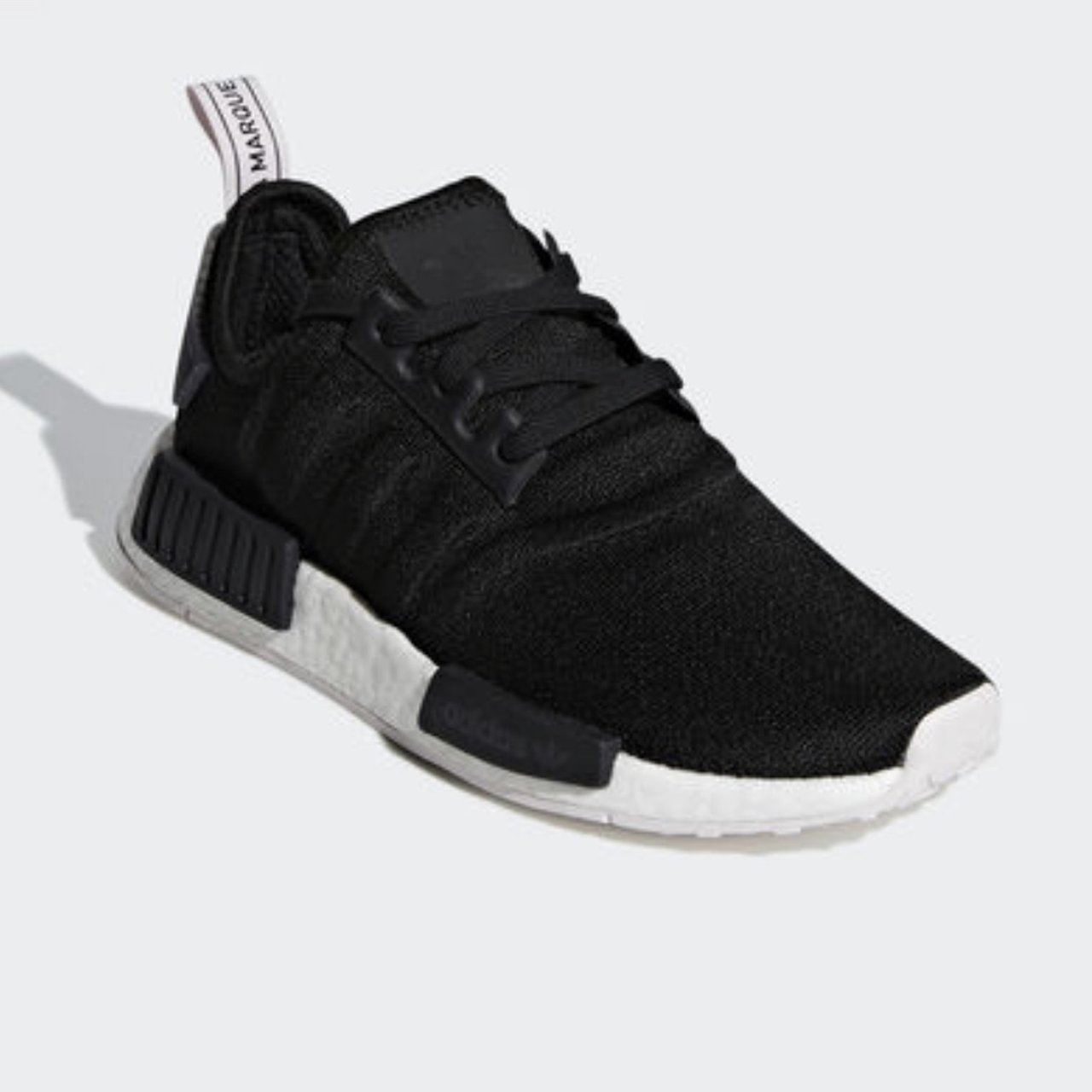 a5132aa6ceeaf Adidas NMD R1 Womens size 8 Core black  Core black  Orchid - Depop