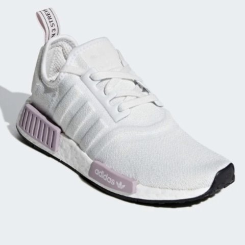 Adidas NMD CRYSTAL WHITE / CRYSTAL WHITE / ORCHID... - Depop