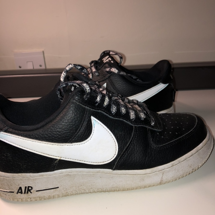 Nike Air Force One 1 Low 07 NBA White Black tag. 42 Depop