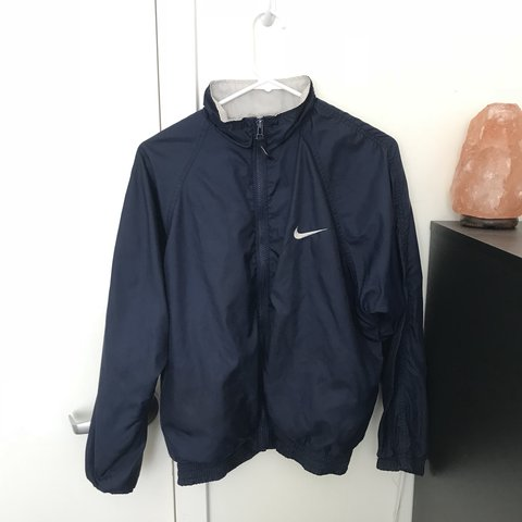 b9edb1ac2979 Navy blue vintage nike windbreaker ✨ Super cozy on the sad i - Depop