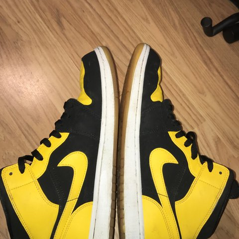 4f7928013bf0 Nike Air Jordan 1 New Love Mids yellow black Selling cheap I - Depop