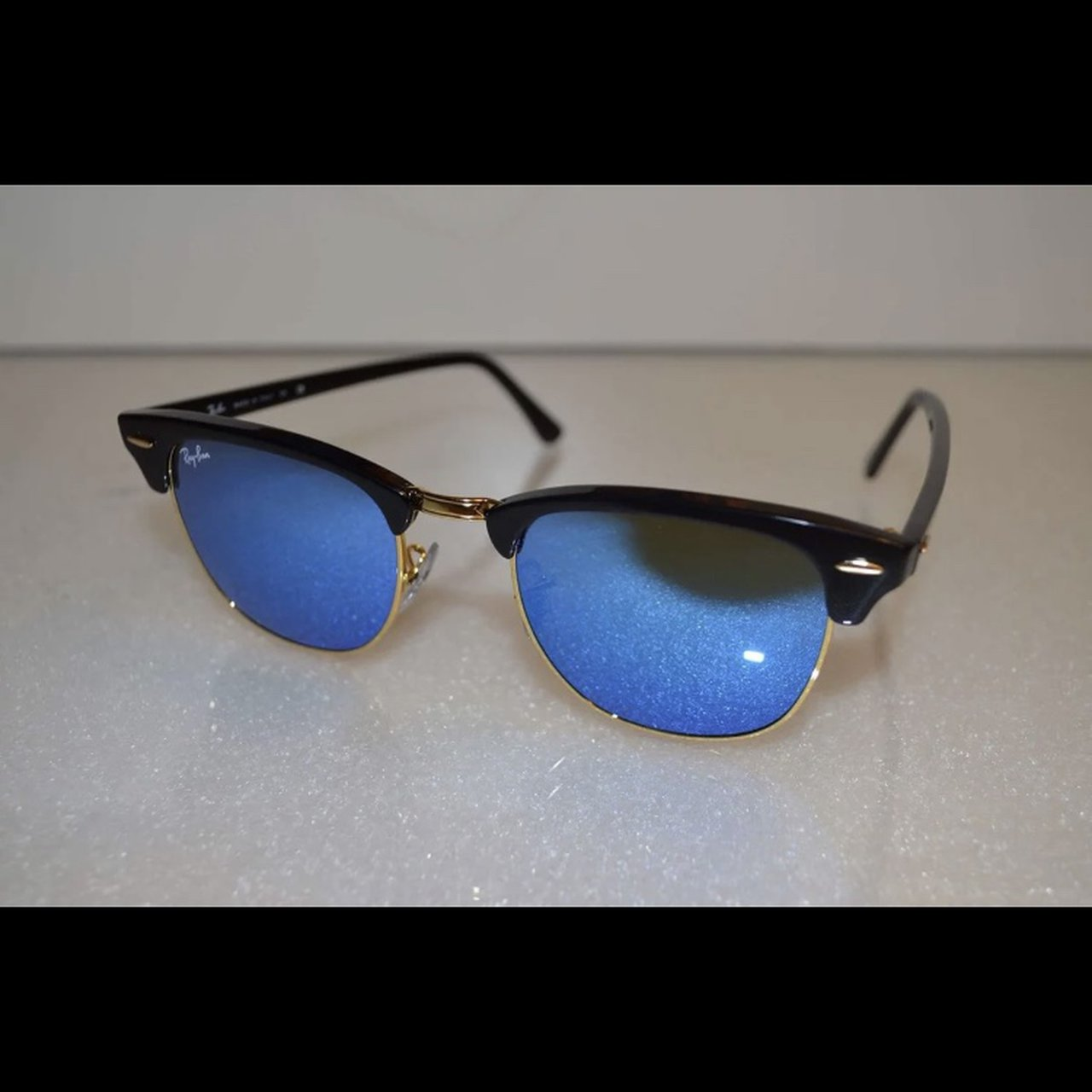 6821626b9ec Mirrored Clubmaster RayBan Sunglasses • Good condition of - Depop