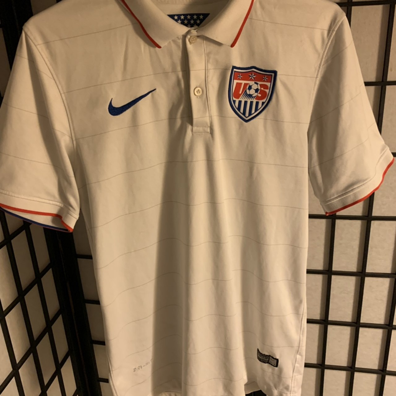 e08e29503 Men s U.S. national team soccer jersey. Authentic Nike Size - Depop