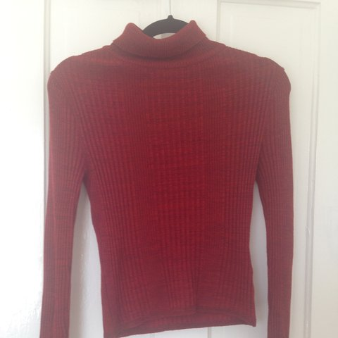 f185367596c Cute ribbed knit Topshop turtleneck in red. Petite size 8
