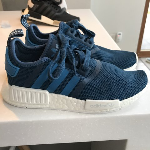 addf52af359bc Blue Ladies Adidas NMD Trainers worn once was £105 now £25