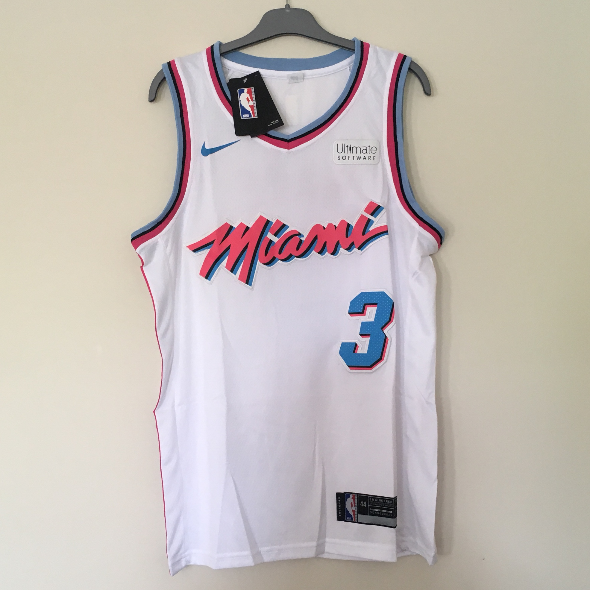 best service 0f53e 9e15a White Miami Heat NBA city edition jersey - #3... - Depop