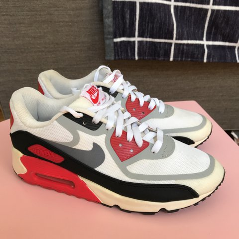 704ca7308d985 Nike Air Max 90 Premium Tape QS Infrared White Black Men s - Depop