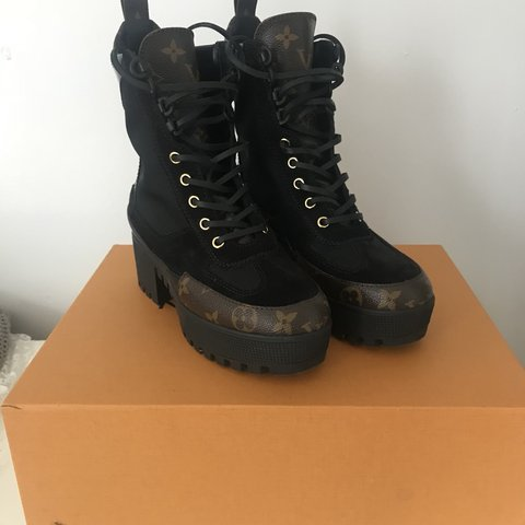 Louis Vuitton Combat Boots! Only wore