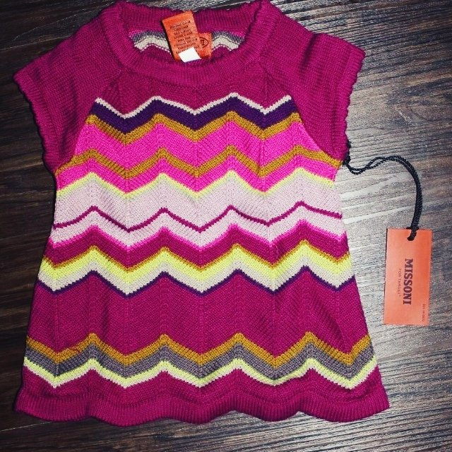 fbfb93889d7f Missoni for TARGET baby zigzag sweater dress. O-3 months. So - Depop