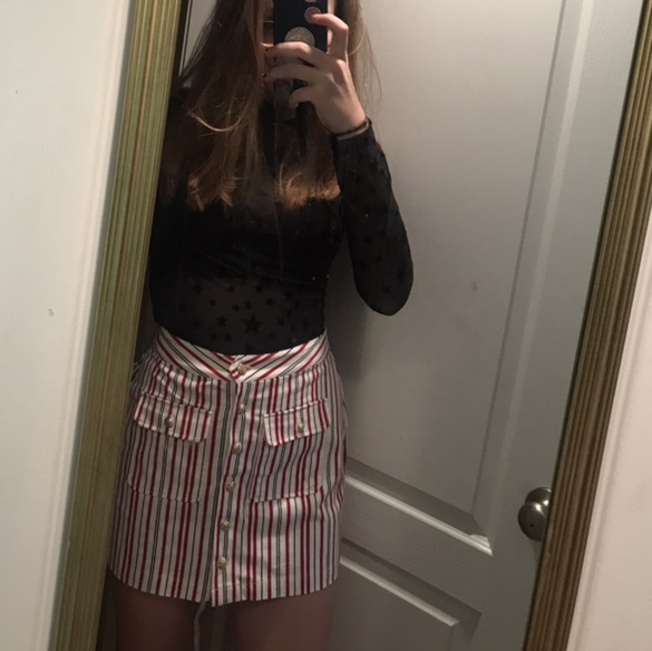 349e1a71d Forever 21 Pop and Play Striped Skirt :) NWT... - Depop