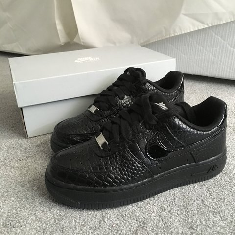 the best attitude 8938a 7bb6c  souperbwitch. 3 years ago. London, UK. Women s Nike Air Force 1 AF1 black  crocodile ...