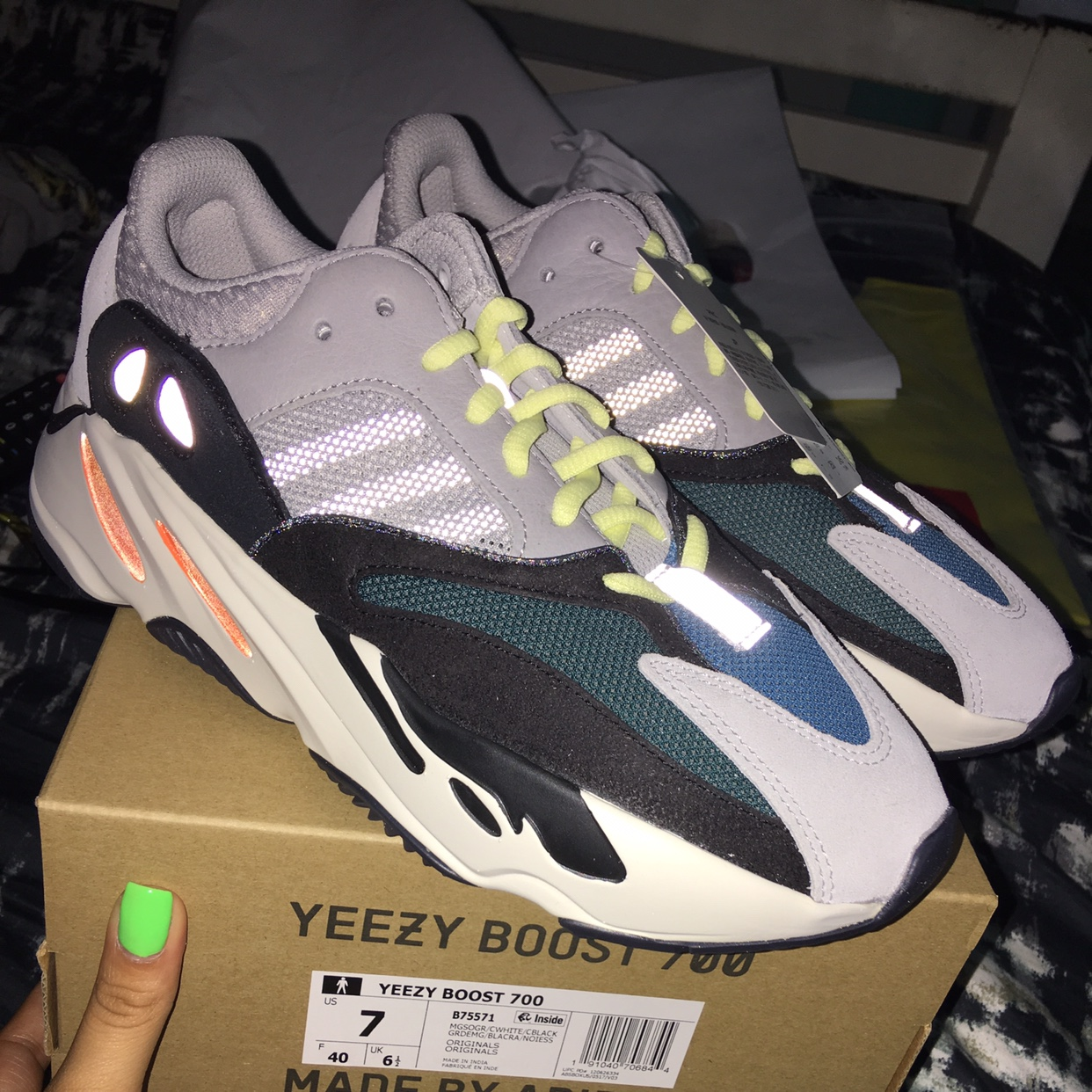 low priced 4d7bf c5172 Adidas Yeezy 700 Wave Runner Size 7 10/10... - Depop
