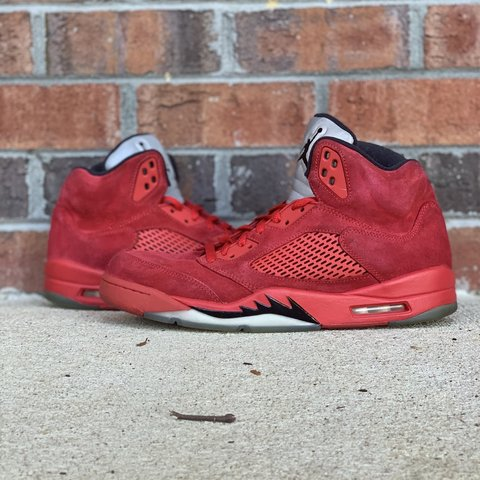 a2ac5d2681ad Air Jordan 5 Red Suede Retro Jordan s from 2017 Used