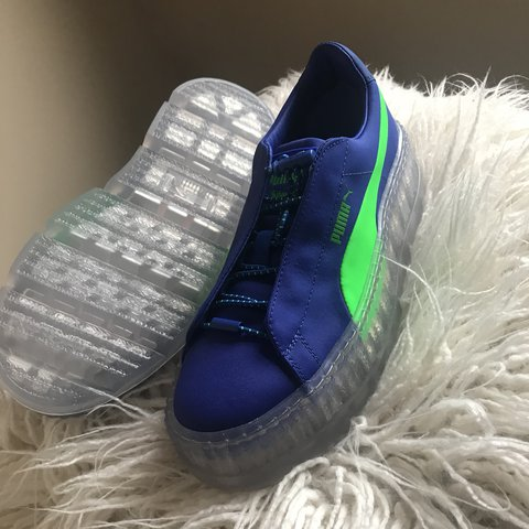 624d5a7f07c6 New Fenty Puma Cleated Creeper. Never worn and authentic 9 - Depop
