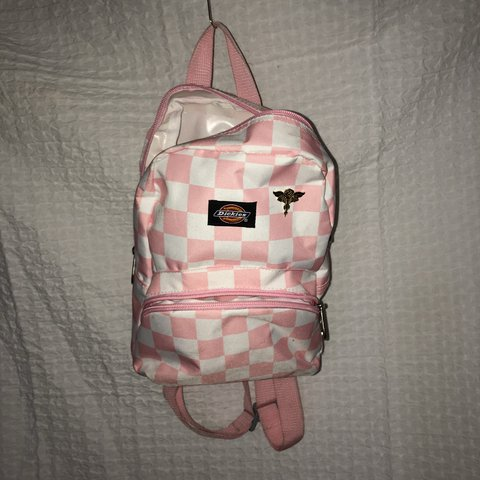 141e850076 Super Cute Pink   White Checkered Dickies Mini Backpack✨✨  7 - Depop