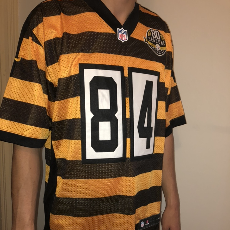 pretty nice e7a4b 9823e Authentic Nike Antonio Brown Throwback Bumblebee... - Depop