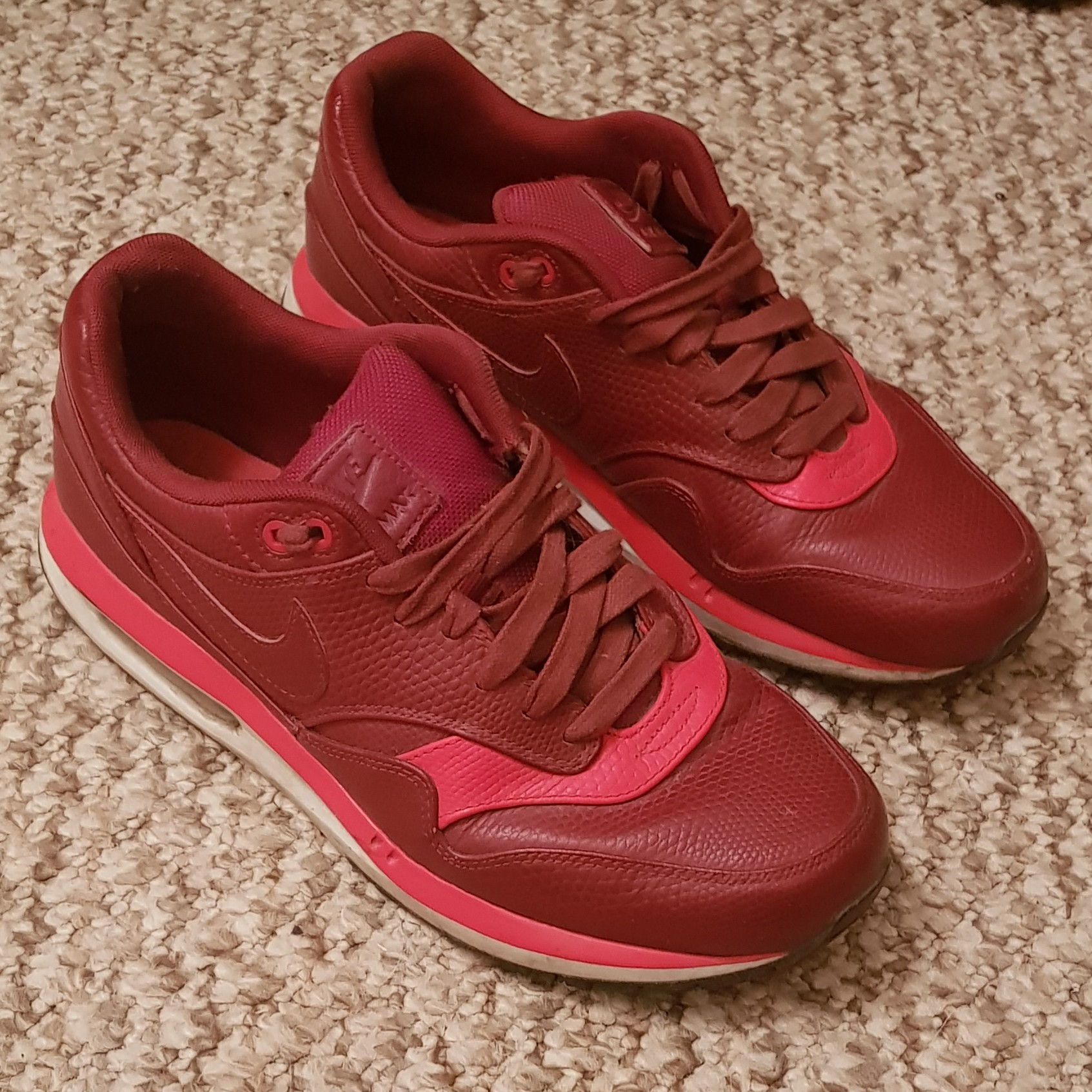all red trainers