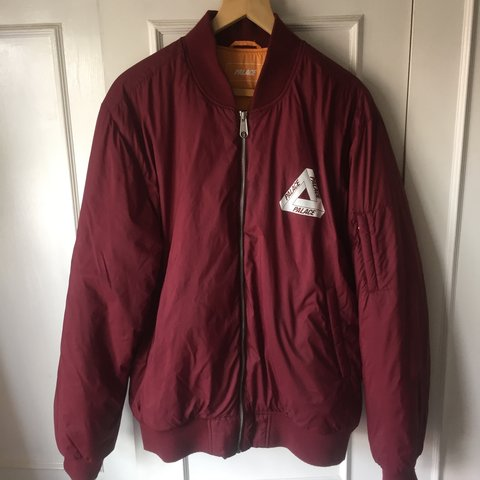 7c43df81ac87 Palace Thinsulate cordovan bomber jacket • Very light weight - Depop