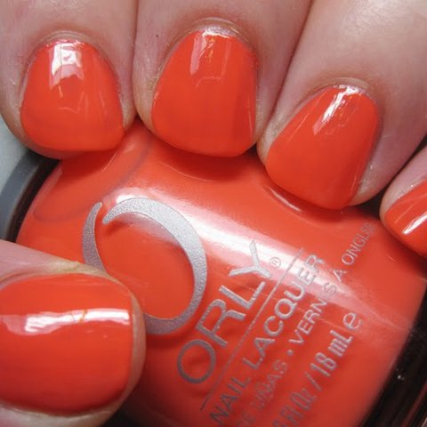 Orly Nail Polish Laquer Truly Tangerine 40624 Bright Pink Depop